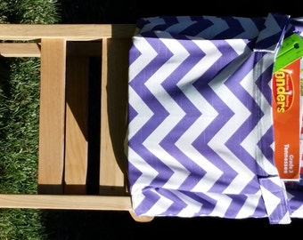 Chair Pockets // Classroom Storage //  Teacher Classroom Organization // Seat Sacks // Purple Chevron // 14 inch deluxe // SALE