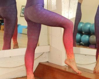 Flower of Life OMBRE FITNESS Yoga Leggings