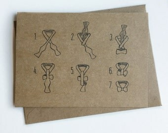 Groomsmen cards / Wedding Party, Gift, Bridal Party, Ringbearer, Thank you, How to Tie a Bow Tie, Best Man card, Groomsman gift