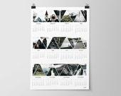 2017 Calendar Printable, Iceland Wall Calendar, Travel Photography, 2017 Wall Calendar, Instant Download, Large Wall Calendar, Office Decor