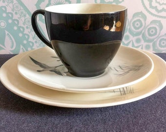 SALE - 50% off - Vintage - Johnson Brothers - Flying Geese - Cup Saucer Plate - Trio