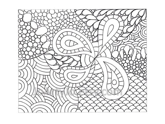 Childrens Zendoodle Coloring Page PDF Page 66 Printable