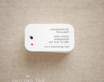 Personalized  Care Labels Instructions Tags - Etsy Product Tag - Clothing Care Tag  - Etsy Shop Labels Hang Tag- Set of 40 (Item code: J546)