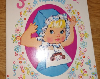 Vintage 1973 Sweet April  Paper Doll Cutout Book by Whitman Remco Unused