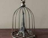 Vintage Small Birdcage ....Dome Cloche Display
