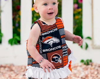 Parley Ray Football Pinafore, Ruffled Bloomers / Ruffle Diaper Cover / Photo Props