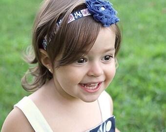 New York Yankees Baby Bow. NY Yankees Baby Headband. Yankees Baby Girl. NY Yankees Newborn Girl Headband. New York Yankees Baby Gift