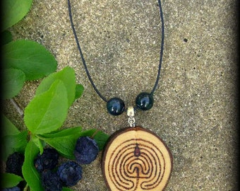 Druid Blackthorn Troy Pendant No.2: Labyrinth, Witchcraft, Druid, Celtic, Wicca, Pagan