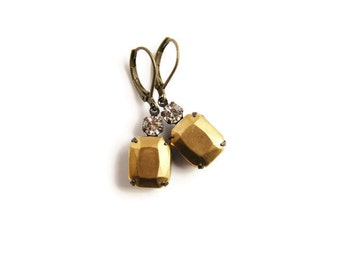 Crystal and Gold Earring