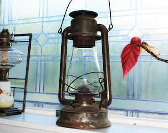 Large Antique Barn Lantern Embury Supreme No. 240 Country Primitive Farmhouse Decor
