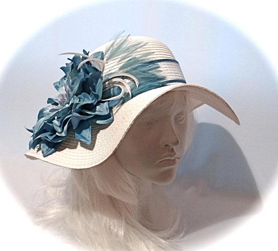 SUMMER SALEWhite Derby Hat Mother Of The Bride