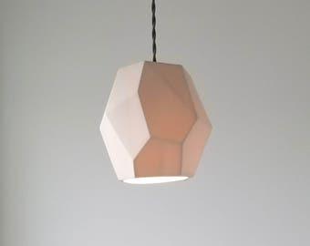 Geometric Porcelain Pendant Light, Modern Lighting,