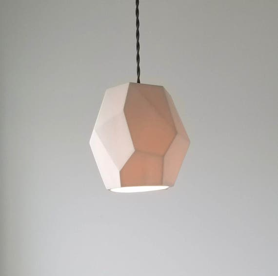 Geometric Porcelain Pendant Light, Modern Lighting,