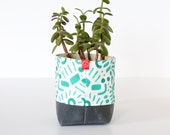 Fabric Bucket - Glyphs