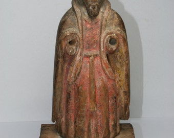 Antique Cared Wood Santos Figure