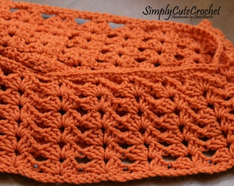 RTS cowl, crochet cowl, crochet scarf, infinity scarf, twisted cowl, orange cowl scarf,  fall fashion, fall colors scarf, ready to ship