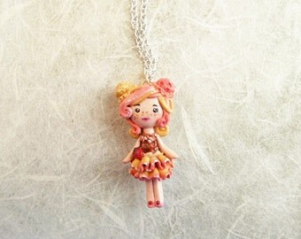 On sale!! 20% discounted! Kawaii ice cream doll necklace. Pixie necklace. One of a kind.