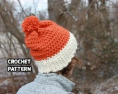 CROCHET PATTERN - Wisconsin Hat (Toddler, 3-5 Years, 6-10 Years, Adult) - 1 Hour Hat - Sell What You Make