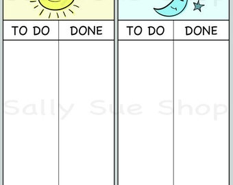 Printable chore chart/editable chore chart/daily chores/INSTANT DOWNLOAD