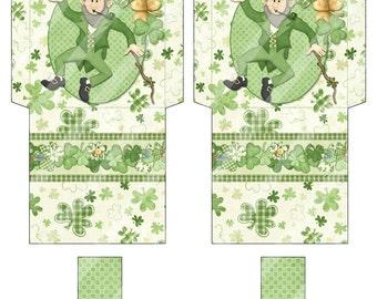 Digital Printable St Patrick's Day Tea Bag Wrappers - Tea Bag Envelopes - St Paddy's Day Tea Bag Holder