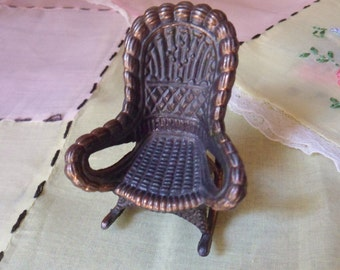 Durham Miniature Wicker Rocking Chair, Holly Hobbies Miniature Furniture
