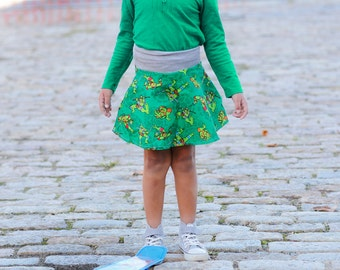 Teenage Mutant Ninja Turtles Skirt,Skater Skirt,Girls TMNT,TMNT Clothing,Toddler Skirt,Toddler Clothing,TMNT Toddler
