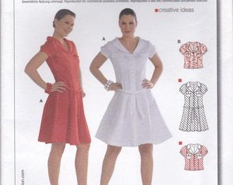 Darling Dress or Blouse Pattern Burda 7775 Sizes 10 - 24 Uncut