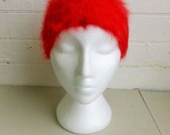 Vintage angora wool head band head warmer