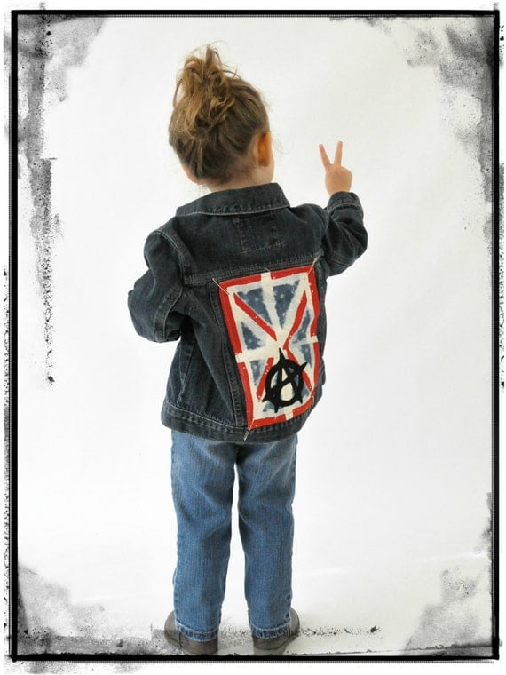 Punk Rock Anarchy Denim Jacket Girls Denim Jacket Boys