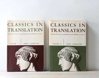 Greek Latin vintage book set / Classics in Translation philosophy / Greek Latin Roman literature / classics liberal arts coffee table decor