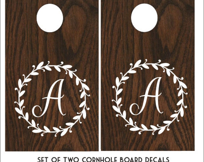 Rustic Cornhole Decals Wedding Cornhole Decals Set of Two Decals for Corn Toss Game DIY Wedding Decor Rustic Barn Wedding Decal Personalized