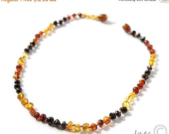 15% OFF THRU OCT Baby Amber Teething Necklace, Genuine Baltic Amber,Baltic Amber Teething Necklace, approx 13inch, 14inch