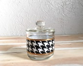Vintage Houndstooth Sugar Bowl