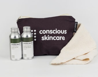 Skin Care Set. Make Up Remover. Choice of Facial Cleanser in Lavender or Orange Blossom . Award Winning. Gift for Her.  Christmas Gift.