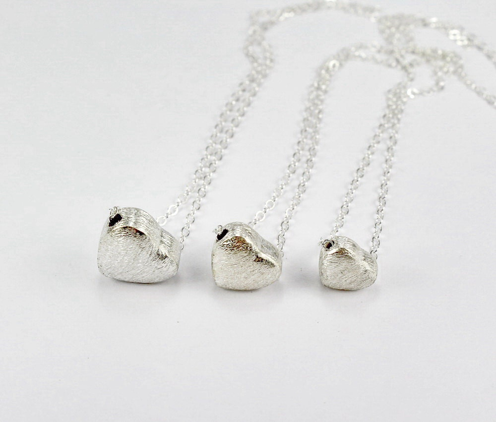 Three Generations Heart Necklace