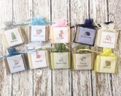Woodland Theme Soap Favors For Baby Shower With Organza Bags 100% Natural Cold Processed