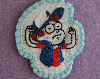 Dipper Pines Gravity Falls Inspired Embroidered Sew-On Patch