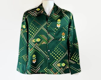 70s Mod Shirt, Geometric. Space Age, Gift for Him, Triumph