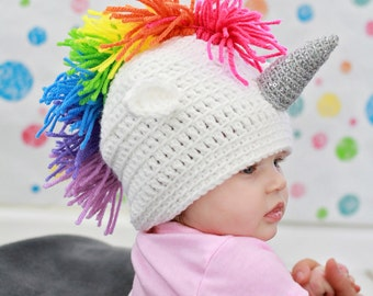 Rainbow Unicorn Hat, Rainbow Baby, Unicorn Baby Gift, Unicorn Lover Gift, Unicorn Baby Gift, Unicorn Baby Clothes, Trendy Baby Clothes
