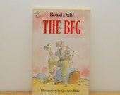 Roald Dahl The BFG book, vintage Puffin book, paperback, Quentin Blake Illustrations