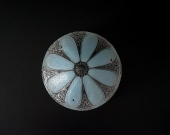 Gorgeous Frosted Glass Ceiling Light Fixture Shade // Art Deco 20s 30s