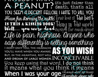 The Princess Bride 11 by 14 Art Print  (multiple colors available)