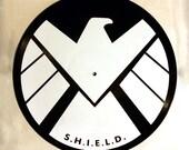 SHIELD logo Vinyl Record Marvel Silkscreen Print