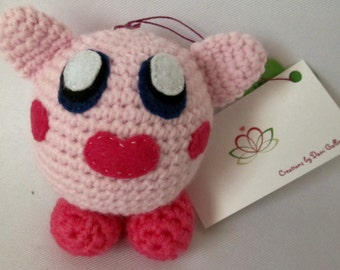 Kirby toy balls in crochet, gamers toys, video game figurines