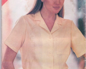 Butterick See and Sew Sewing Pattern 166 80s Misses Shirt Size 14-18 Uncut