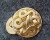 Celtic knot Vintage Gold Button- x-large and medium, shank style, 19mm and 28mm