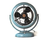 Vintage Fan | Working Mid Century Fan in Seafoam Green