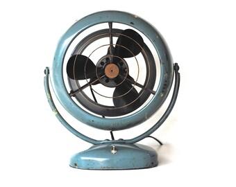 Vintage Fan | Working Mid Century Fan in Seafoam Green