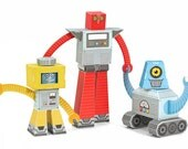 Robots Paper Toys - Movable Paper Toys - DIY Paper Craft Kit