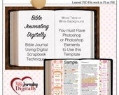 iNSD Sale! Layered Template for Bible Journaling Digitally with Photoshop or Photoshop Elements PSD File